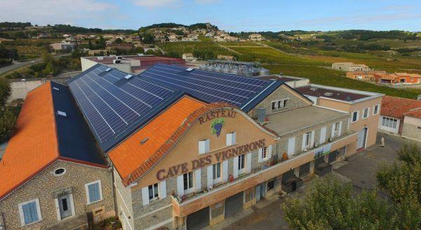 Toiture photovoltaïque Cave de Rasteau -CVE