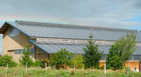 Batiment de stabulation photovoltaïque Coltines Cap Vert Energie