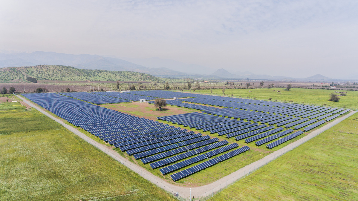 Centrale au sol photovoltaïque Quinta-Solar Chili CVE