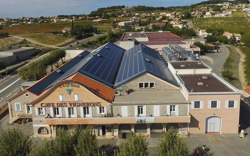 Cave de Rasteau - toiture photovoltaïque - CVE